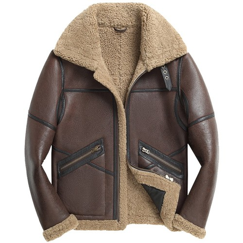 Father's Day Gifts | Custom Men Sheepskin Aviator Jacket CW808309 | CWMALLS.COM
