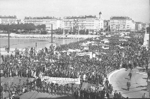 Photo : Manifestation du 13 Mai 1968 à Lyon