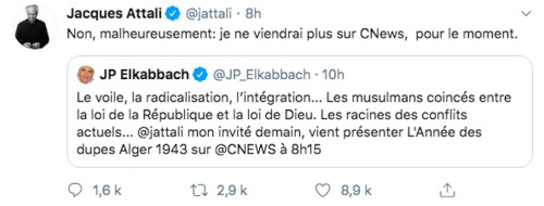 Zemmour : Jacques Attali refuse une invitation de Elkabbach sur Cnews