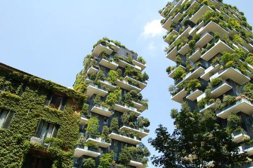 Bosco verticale, Green in the city, Milan, Italy