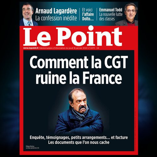 La une du Point : Comment la CGT ruine la France