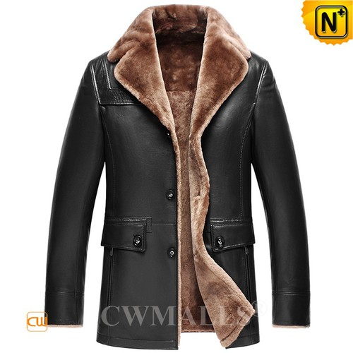 Buy Shearling Coat | Custom 2 in 1 Leather Shearling Blazer CW818207 | CWMALLS.COM