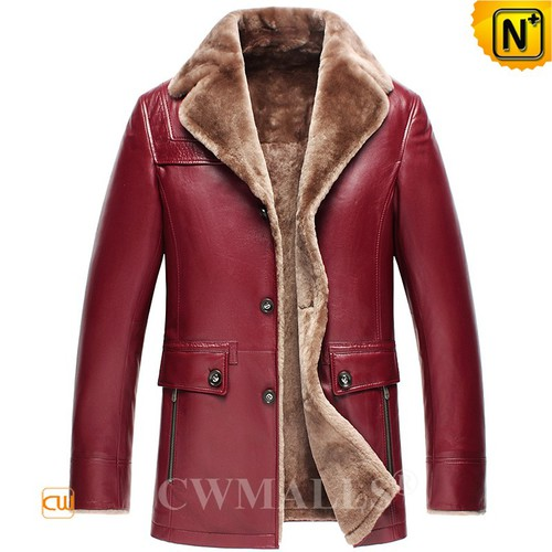 Buy Shearling Coat | Multifunctional Shearling Leather Blazer CW818206 | CWMALLS®