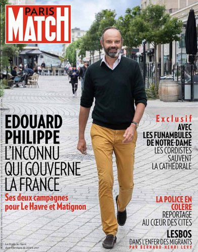 edouard phillipe en une de Paris Match