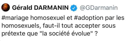 Les ancient tweets de G Darmanin ressortent