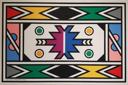 A painting by Dr Esther Mahlangu PHOTO COURTESY OF THE MELROSE GALLERY